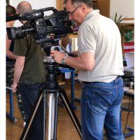 """Goran Hantschel als Kameramann in """"Wenn die Heidelerche singt"""", Film von Ana Bilic, Fotografin: Bianca Hantschel, Nutzungsrechte: Cittador"""